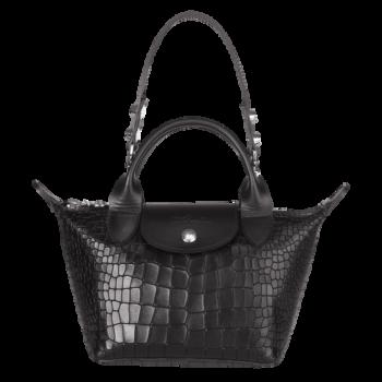 Longchamp Le Mini Pliage Cuir noir