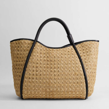 Borsa Max Mara Marine Shopper in rafia crochet