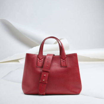 Shopper in pelle Max Mara rossa